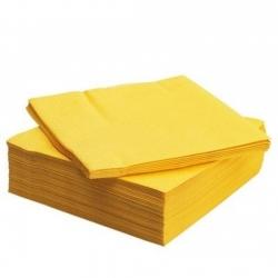 Салфетки желтые, 100 листов