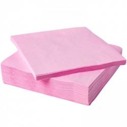 Салфетки розовые, 100 листов