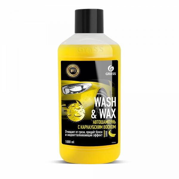 Автошампунь с карнаубским воском Wash & Wax 1л