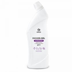 """Средство щелочное для прочистки канализационных труб """"Digger-gel"""" Professional 1л"""