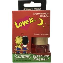Ароматизатор воздуха Contex подвеска Love is... (Вишня в шоколаде) 8мл