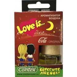 Ароматизатор воздуха Contex подвеска Love is... (Cola Original) 8мл