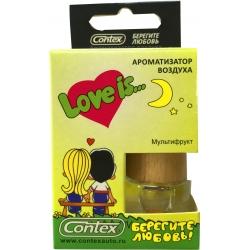 Ароматизатор воздуха Contex подвеска Love is... (Мультифрукт) 8мл