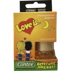 Ароматизатор воздуха Contex подвеска Love is... (Цитрусовый рай) 8мл