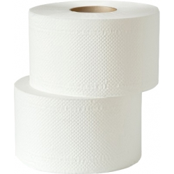 Туалетная бумага белая 2 слоя, гладкая 160м