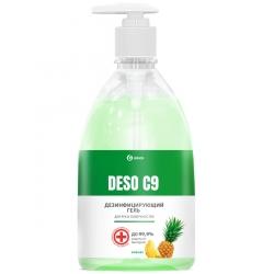 Дезинфицирующий гель для рук на основе изопропилового спирта DESO C9 «Ананас», 500мл