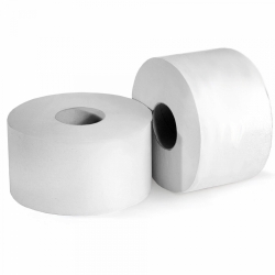 Туалетная бумага светло-серая 1 слой, 200м